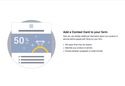 Facebook Lead Ads Context Card
